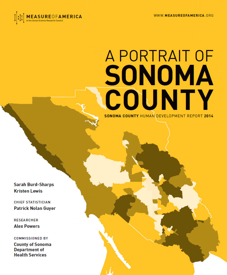 a portrait of sonoma county measure of america a program of the